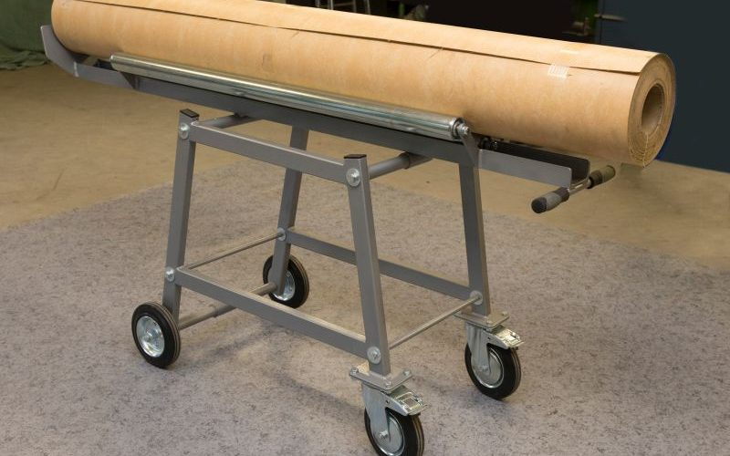 T Wagen mit 3 Walzen für 2 m breite Beläge