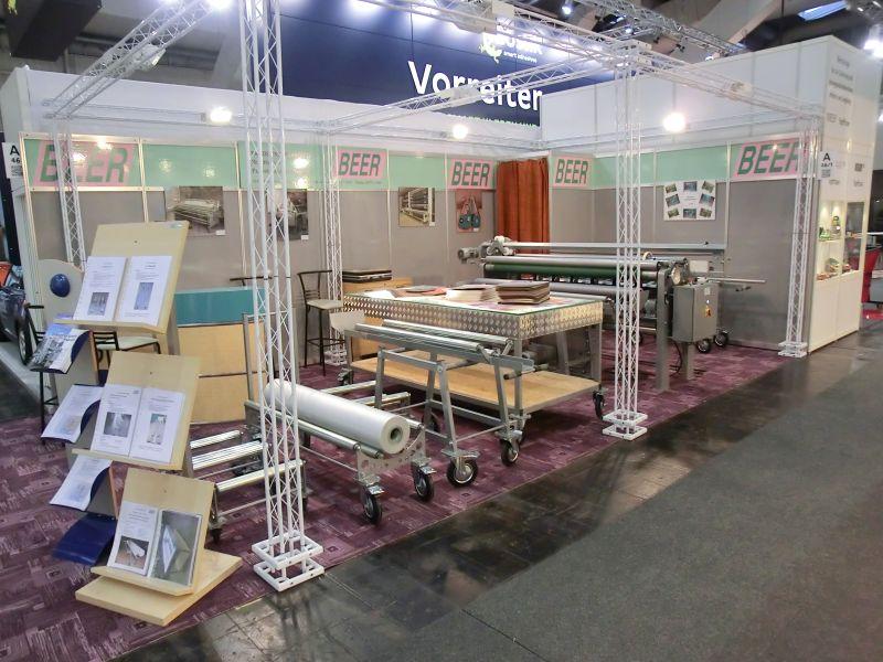 Messestand der Firma BEER GmbH auf der jährlich stattfindenden DOMOTEX-Messe in Hannover.